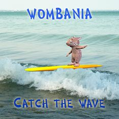 Surfing Wombie Poster