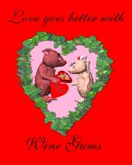 Wombat Love Goes Better with Wine Gums Poster