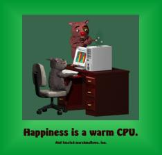 Happiness is a Warm Computer Poster