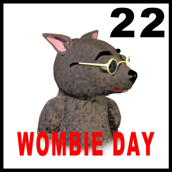 Wombat Day Sticker version 4
