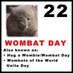 Wombat Day badge