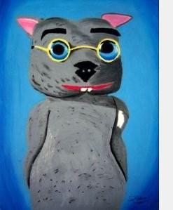 Binky's portrait by Debbie Adams