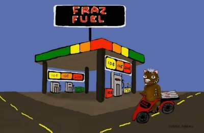 Fraz's Fuel Station by Debbie Adams