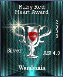 Ruby Red Heart Award Silver
