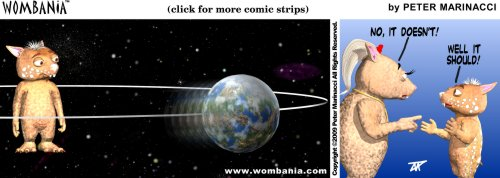 Wombania comic strip Fraz World