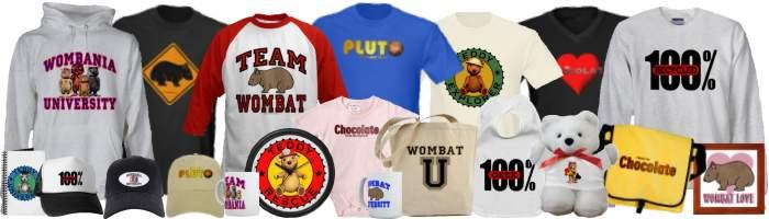 Wombania's Gift Shop Merchandise