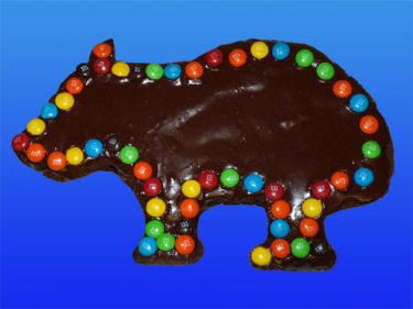 Wombat brownie for Wombat Day