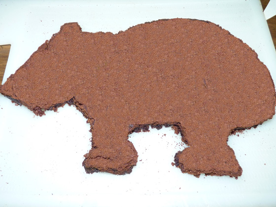 Wombat Brownie cut out and pieced together