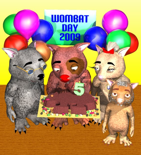 Fifth annual Wombat Day, 2009