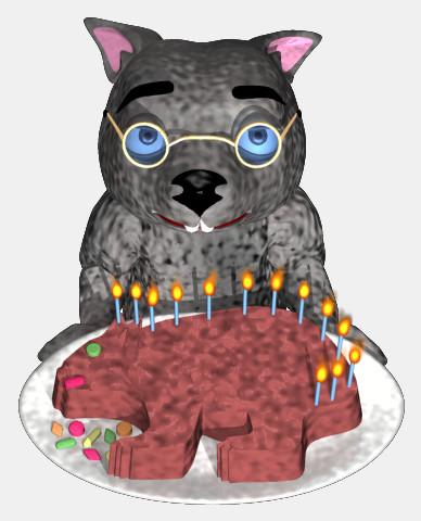 Wombat Day Cake with Binky