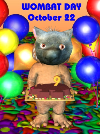 Fraz as a wombat for Wombat Day