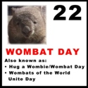 Wombat Day Sticker version 3