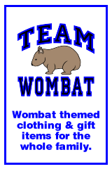 Wombat merchandise, clothing, t-shirts and gifts