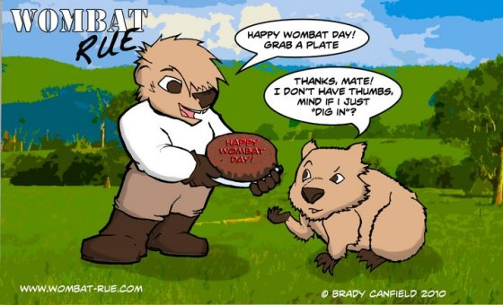 Wombat Rue Celebrates Wombat Day