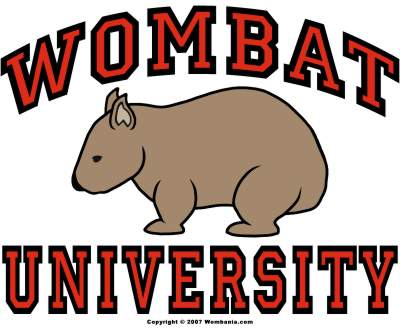 Wombat University Logo