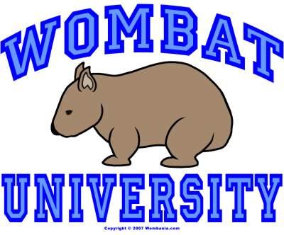 Wombat University Crest