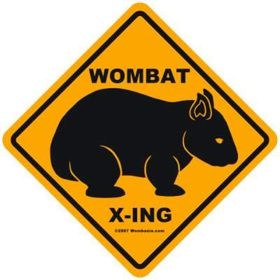 Wombat X-ing Sign